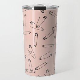 Pink safety pin Travel Mug