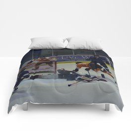 Dive for the Goal - Ice Hockey Comforters