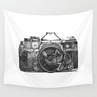 camera Wall Tapestries featuring Camera by DS Art