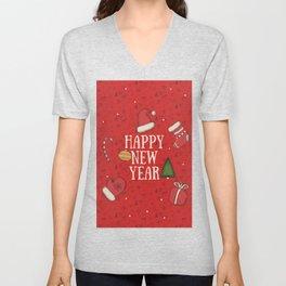 New Year, Cristmas, winter holidays Unisex V-Neck