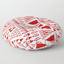 Zig Zag Pattern -  brick red Floor Pillow