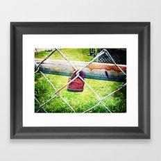 Locked Out Framed Art Print