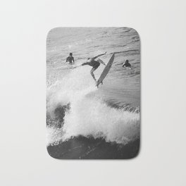 Surfer Launches Off Wave Bath Mat