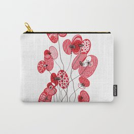 Patterned Poppies Carry-All Pouch