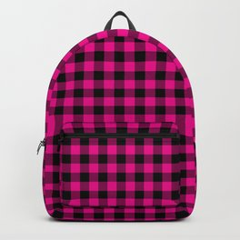 Classic Hot Pink Country Cottage Summer Buffalo Plaid Backpack