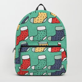 Christmas Stockings Green #Christmas #Holiday Backpack