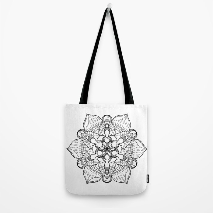 Symmetrical Sea, Lineart Only Tote Bag