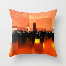 Q-City Zero Throw Pillow