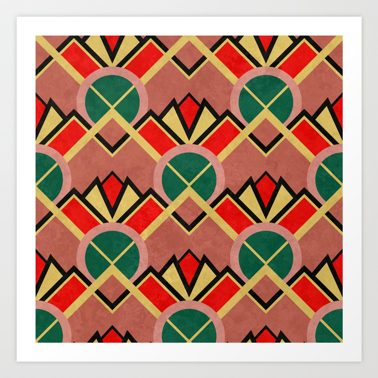 Art Deco Movie Theater Carpet Pattern Art Print By Studiosplatter Society6