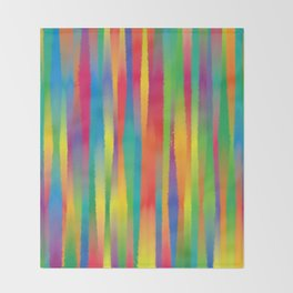 Paint Yourself In Stripe Throw Blanket