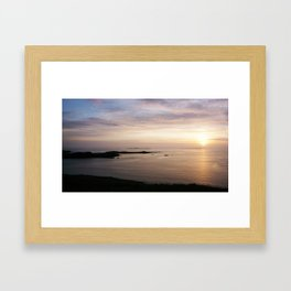 Iceland - Midnight Sun Framed Art Print