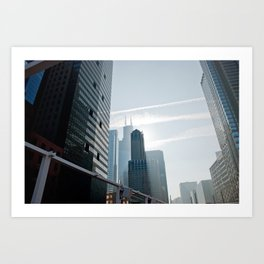 Riverside view of Chicago Art Print