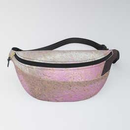 Industrial Pink Painted Cement and Graphic Snake Skin Fanny Pack