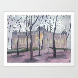 Le Petit Palais en hiver III Art Print