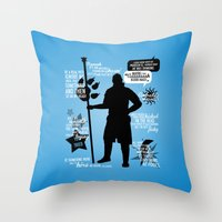 dragon age Throw Pillows featuring Dragon Age - Anders by firlachiel