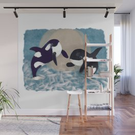Whale dance Wall Mural
