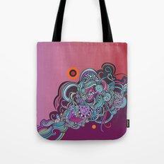 Detailed diagonal tangle, pink and purple Tote Bag