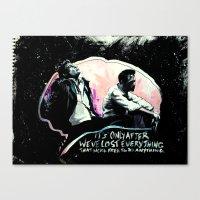tyler durden Canvas Prints featuring Fight Club Tyler Durden by Anne LaClair