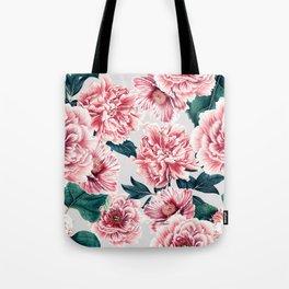 Pattern pink vintage peonies Tote Bag
