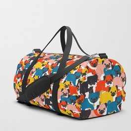 COLORED PUGS PATTERN no2 Duffle Bag