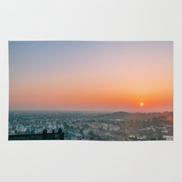 colorful sunset in Bergamo Rug