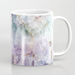 Turquoise & Purple Quartz Crystal Coffee Mug