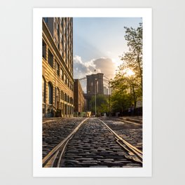 Brooklyn Bridge at Sunset Art Print