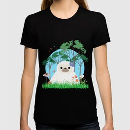 Super cute white two toed Sloth T-shirt