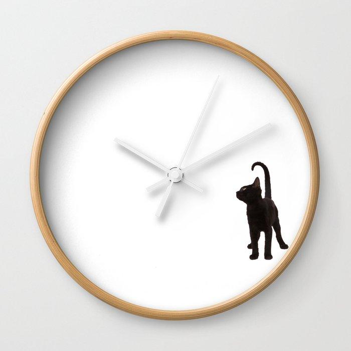 Gato negro Wall Clock