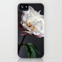 Soft pink peony iPhone Case