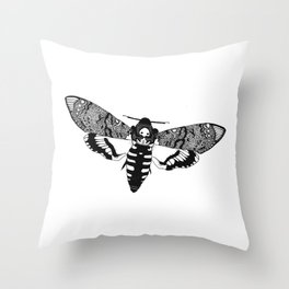 Deaths Head Moth Throw Pillow
