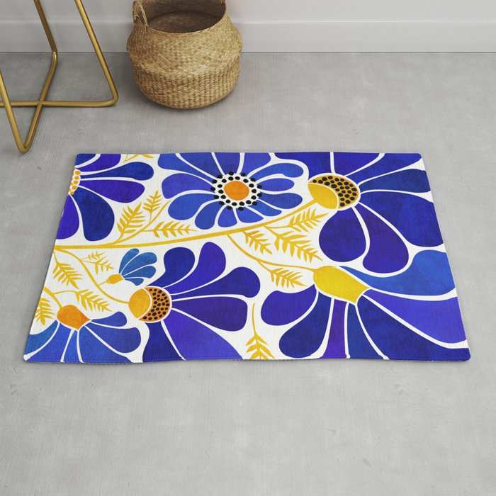 The Happiest Flowers Rug