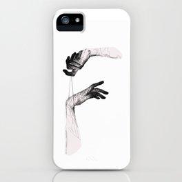 Hanged Hands iPhone Case