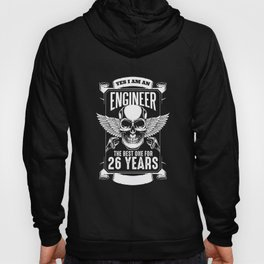 26th Birthday Engineer 26 Years Technician Gift Hoody