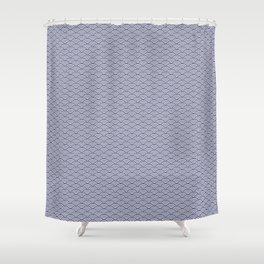 Japanese Koinobori fish scale Delft Blue Shower Curtain