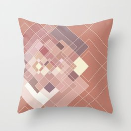 GeoPink Throw Pillow