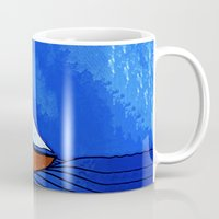 sailing Mugs featuring Sailing by Brontosaurus