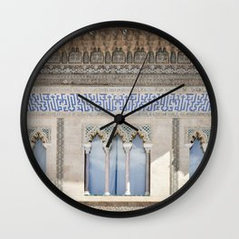 Window Detail at Royal Alcazar of Seville Wall Clock