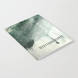 Last Kiss: a minimal, abstract watercolor piece in greens Notebook