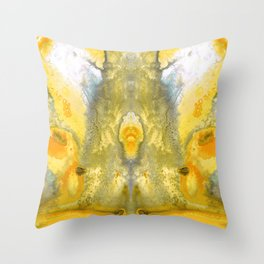 Triumph - Yellow Abstract Art By Sharon Cummings Throw Pillow