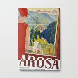 Arosa Switzerland - Vintage Travel Metal Print