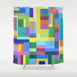Color Burst Geometry Shower Curtain
