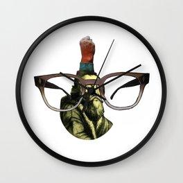Vieux aux lunettes en couleur Wall Clock