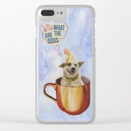 wow! dog Clear iPhone Case