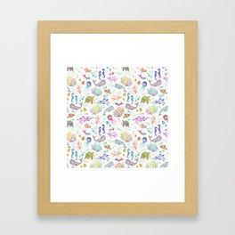 Flip & Flounder Framed Art Print