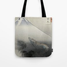 Dragon Rising to the Heavens at Mount Fuji by Ogata Gekko Tote Bag
