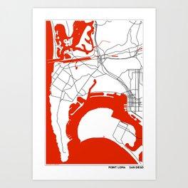 Point Loma  San Diego Map Art Print