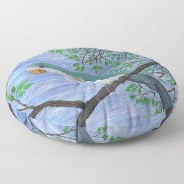 A painting of a quaker parrot Floor Pillow