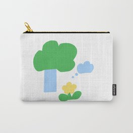 Tree and Cloud and Flower Carry-All Pouch