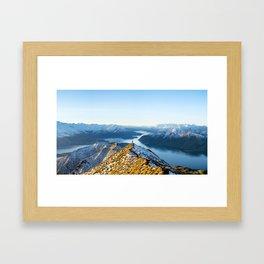 Dancing Peaks Framed Art Print
